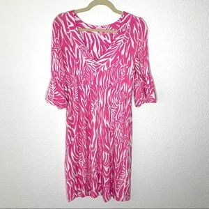 Lilly Pulitzer Pink Zebra Print Dress Women Small